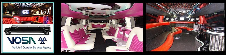 Interior views of Extreme Hummer Limo and Coastal Hummer limo